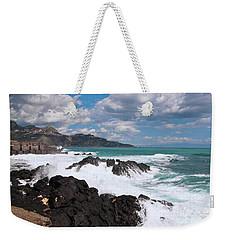 Sicilian Stormy Sound Weekender Tote Bag