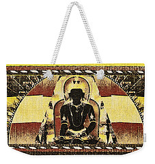 Weekender Tote Bag featuring the mixed media Siddhartha Gautam by Lita Kelley