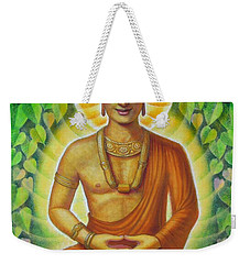 Weekender Tote Bag featuring the painting Siddhartha by Sue Halstenberg