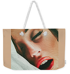 Weekender Tote Bag featuring the photograph Side Kiss- by JD Mims