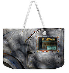 Side Of A Vintage Trailer Weekender Tote Bag