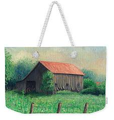 Weekender Tote Bag featuring the painting Side Of The Road by Joe Winkler