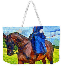 Weekender Tote Bag featuring the photograph Side Saddle by Scott Carruthers
