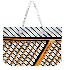 Weekender Tote Bag featuring the photograph Side Step by Paul Wear
