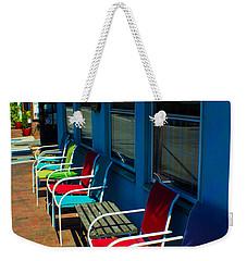 Sidewalk Cafe Weekender Tote Bag