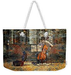 Sidewalk Cellist Weekender Tote Bag