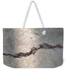 Weekender Tote Bag featuring the digital art Sidewalk Crack by Aliceann Carlton
