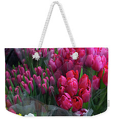 Sidewalk Flowers Weekender Tote Bag by Lora Lee Chapman