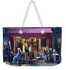 Sidewalk Scene Weekender Tote Bag