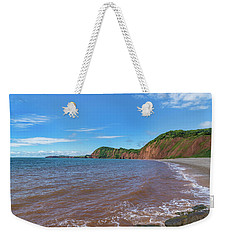 Weekender Tote Bag featuring the photograph Sidmouth Jurassic Coast by Scott Carruthers
