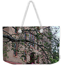 Weekender Tote Bag featuring the photograph Sidney Park Cme Church by Skip Willits