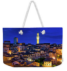 Weekender Tote Bag featuring the photograph Siena At Night by Fabrizio Troiani