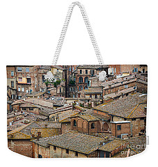 Siena Colored Roofs And Walls In Aerial View Weekender Tote Bag by IPics Photography