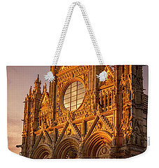 Weekender Tote Bag featuring the photograph Siena Italy Cathedral Sunset by Joan Carroll