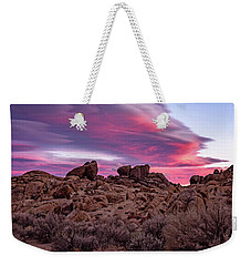 Sierra Clouds At Sunset Weekender Tote Bag