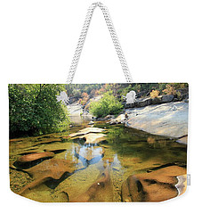 Sierra Liquid Gold Weekender Tote Bag by Sean Sarsfield