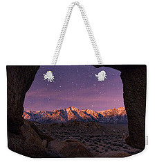 Weekender Tote Bag featuring the photograph Sierra Nevada Moon by Dustin LeFevre