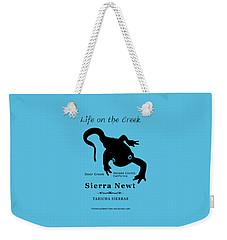Sierra Newt - Black Weekender Tote Bag