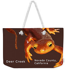 Sierra Newt - Color Newt - White Text Weekender Tote Bag