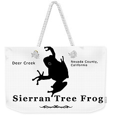 Sierran Tree Frog - Black Graphics Weekender Tote Bag
