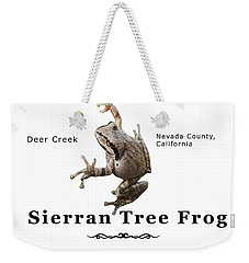 Sierran Tree Frog - Photo Frog, Black Text Weekender Tote Bag