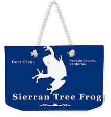 Sierran Tree Frog - White Graphic, White Text Weekender Tote Bag