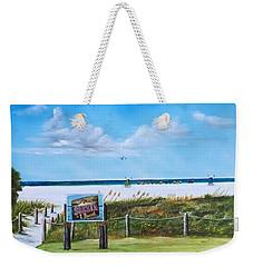 Siesta Key Public Beach Weekender Tote Bag