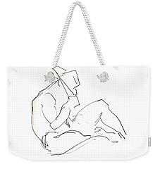 Siesta - Male Nude Weekender Tote Bag