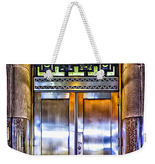 Weekender Tote Bag featuring the photograph Sights In New York City - Bright Door by Walt Foegelle