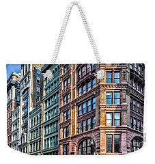 Weekender Tote Bag featuring the photograph Sights In New York City - Colorful Buildings by Walt Foegelle