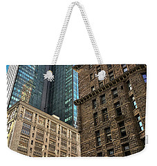 Weekender Tote Bag featuring the photograph Sights In New York City - Old And New 2 by Walt Foegelle