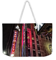 Weekender Tote Bag featuring the photograph Sights In New York City - Radio City by Walt Foegelle