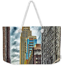 Weekender Tote Bag featuring the photograph Sights In New York City - Skyscrapers 10 by Walt Foegelle