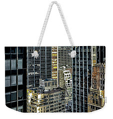 Weekender Tote Bag featuring the photograph Sights In New York City - Skyscrapers Shot From Skyscraper by Walt Foegelle