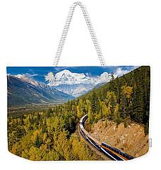 Sightseeing Thru Canadian Rockies Weekender Tote Bag
