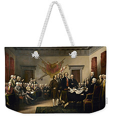 Signing The Declaration Of Independence Weekender Tote Bag by War Is Hell Store