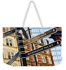 Signpost In London Weekender Tote Bag by Elena Elisseeva
