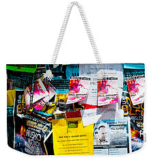 Weekender Tote Bag featuring the photograph Signs Everywhere Signs by Colleen Coccia