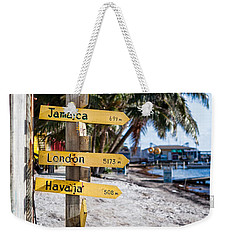Weekender Tote Bag featuring the photograph Signs by Lawrence Burry