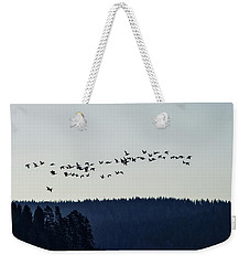 Signs Of Spring - Migrating Geese Weekender Tote Bag