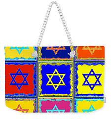 Silberzweig - Judaica Modern Star Sun Weekender Tote Bag by Sandra Silberzweig