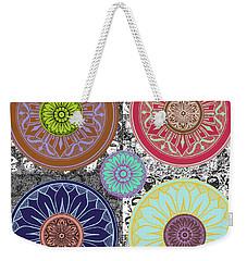 Silberzweig - Karma Mandela - Aqua Sapphire - Weekender Tote Bag by Sandra Silberzweig