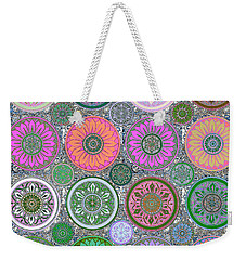 Silberzweig - Karma Mandela - Coral Jade - Weekender Tote Bag by Sandra Silberzweig