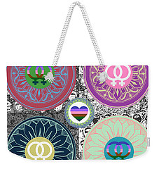 Silberzweig - Karma Mandela -  Pride Female - Ruby Weekender Tote Bag by Sandra Silberzweig