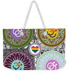 Silberzweig - Karma Mandela - Pride Male - Jade Weekender Tote Bag by Sandra Silberzweig