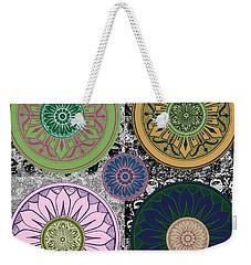 Silberzweig - Karma Mandela - Rose Jade - Weekender Tote Bag by Sandra Silberzweig