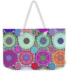 Silberzweig - Karma Mandela - Ruby Violet - Weekender Tote Bag by Sandra Silberzweig