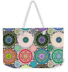 Silberzweig - Karma Mandela - Sage Blush - Weekender Tote Bag by Sandra Silberzweig