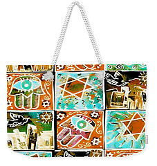 Silberzweig - Scenes Of Israel - Aqua Copper - Weekender Tote Bag