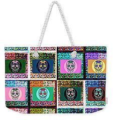 Silberzweig - Sugar Skull Mosaic -  Weekender Tote Bag by Sandra Silberzweig